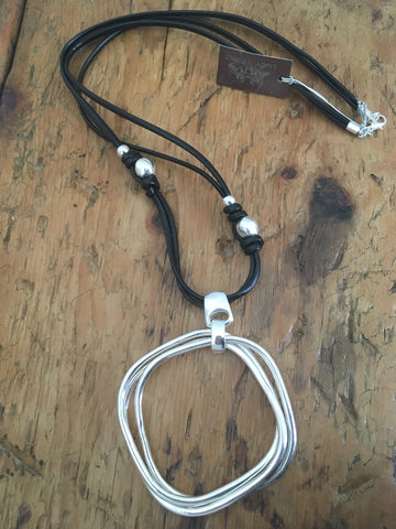 Mia Rope Necklace. Silver/Black. Lucy the First