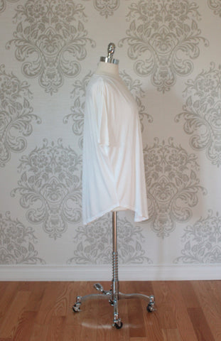 Over sized short sleeved draping top, Nanavatee. Cream