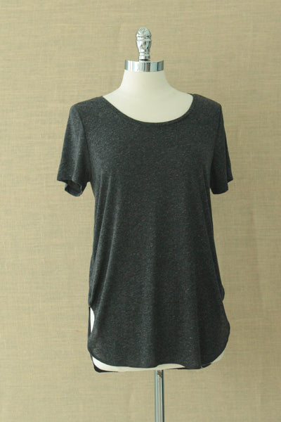 Alabama short sleeved tee. Gentle Fawn. Black Speckle