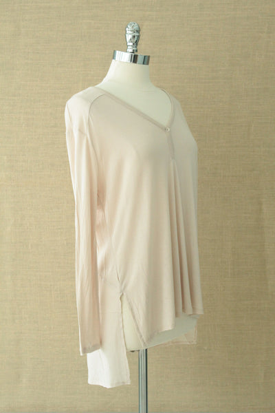 Steam long sleeved top. Gentle Fawn. Neutral pink/Mushroom
