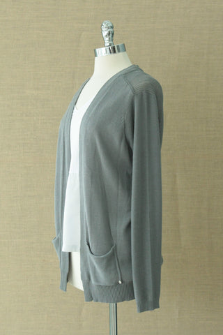 Banksia Relaxed cardigan. Grey