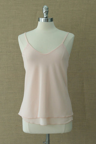 Pretty tiered camisole from Made in Italy label.  Rose pink