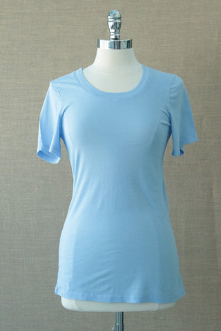 Scoop neck tee from bobi. Frozen