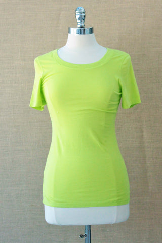 Scoop neck tee from bobi. Margarita