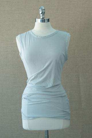 Side pleated tank. Bobi.  Icy Grey
