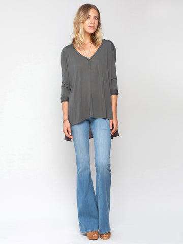 Steam long sleeved top. Gentle Fawn. Combat Grey-Green