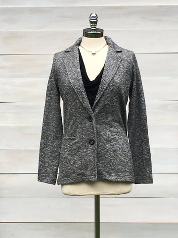 Classic Stretch Blazer. Charcoal mix. Orb