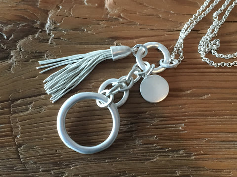 Silver dream long necklace. Lucy the First