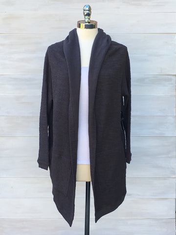 Vermont cardigan. Storm grey. Gentle Fawn