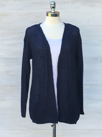 Relaxed cardigan with pockets. b.young. Parisian Night (Navy)