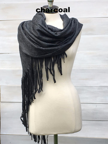 Soft oversized scarf. Charcoal