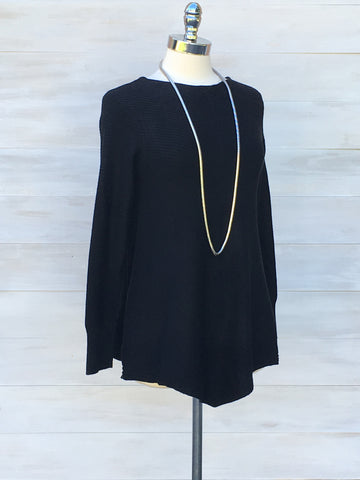 Rib knit tunic Cashmere feel. Diabolika. Black