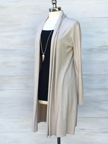 Cashmere Touche cardigan from Diabolika. Sand Beige