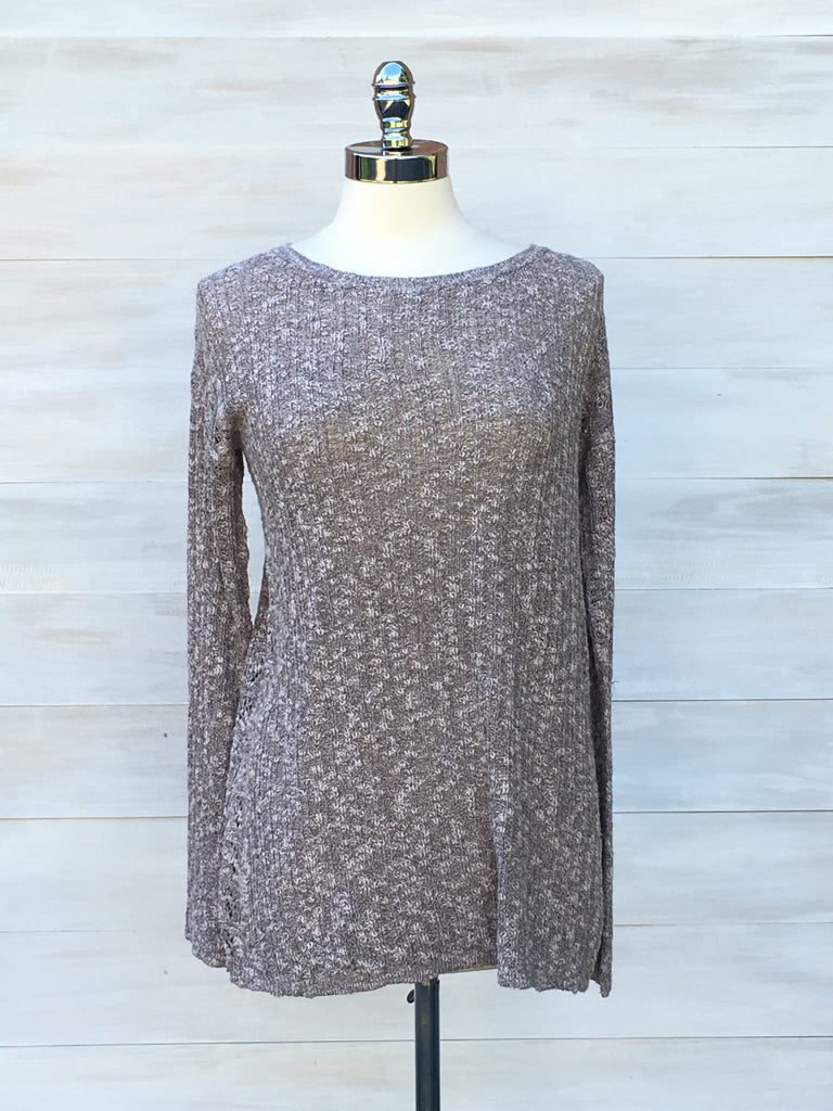 Liaison sweater. Beige Mix. Gentle Fawn