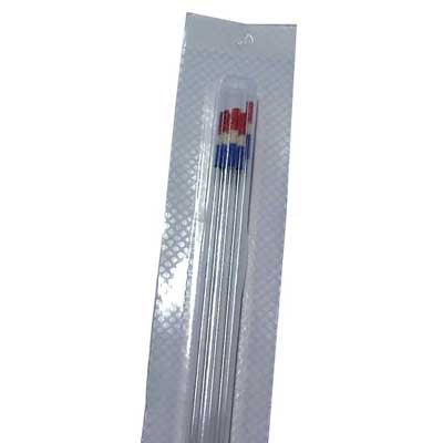 Straw 1/4cc, with Wick&Powder, RWB 5/pk