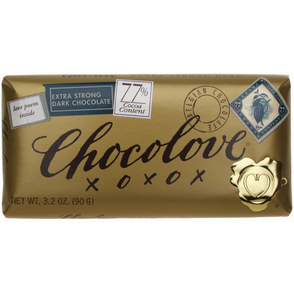 Chocolove Extra Strong Dark Chocolate Bar