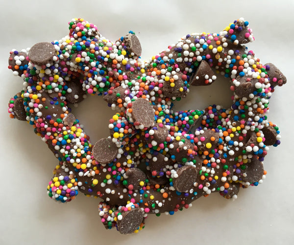Nonpareil Milk Chocolate Covered Pretzels