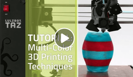 How to do multi-color prints with Lulzbot 3D printers