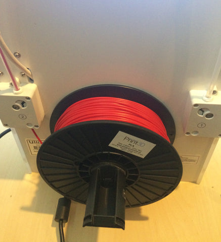 Spool loaded for extruder 1