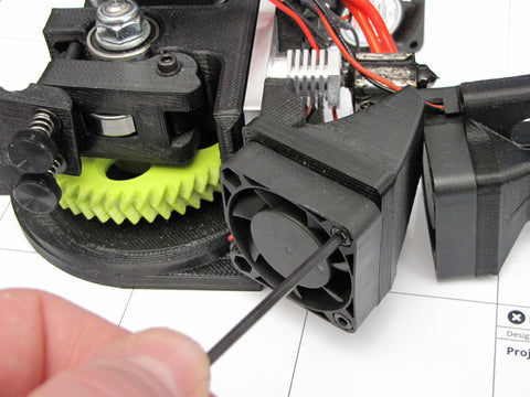 Lulzbot Taz Hexagon Hot End Left Cooling Fan