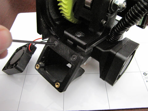 Lulzbot Taz Hexagon Hot End Left Fan Shroud