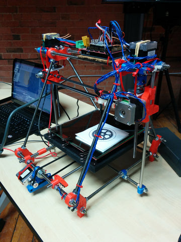 Reprap 3D printer built by Aaron's students