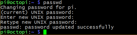 changing password using the passwd command