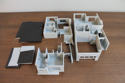 Inside 3D printed model home