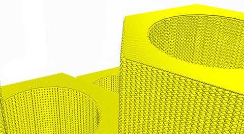 view of top surface skin function in Ultimaker's Cura 2.7