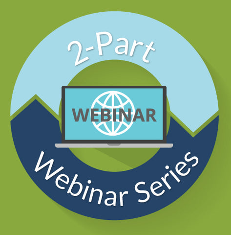 image of a laptop surrounded by a circle title 2-part webinar series.