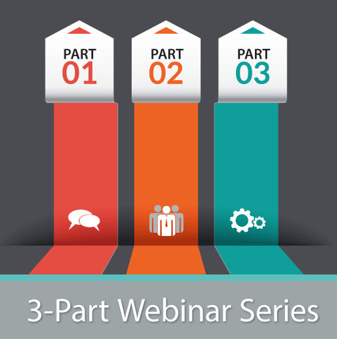 3-Part Webinar Series logo.