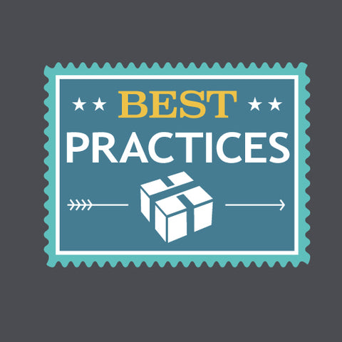 "Image of stamp with quote ""best practices"""