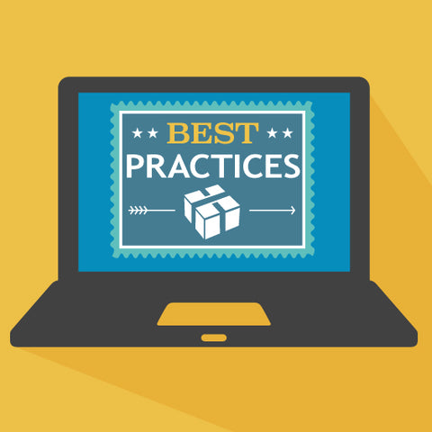 "Image of laptop with ""Best Practices"" on screen."