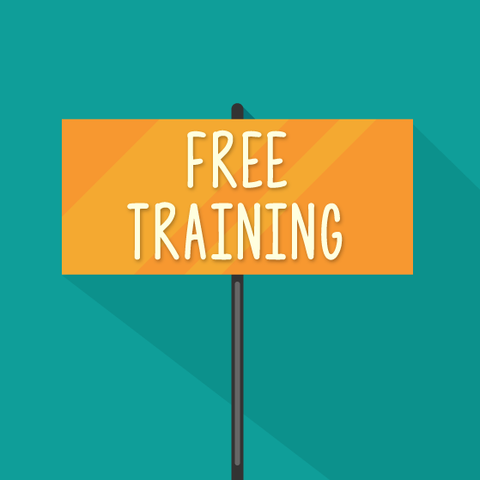 Free training sign.