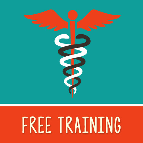 Free training graphic with medical symbol
