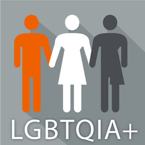 LGBTQIA+ group of people.