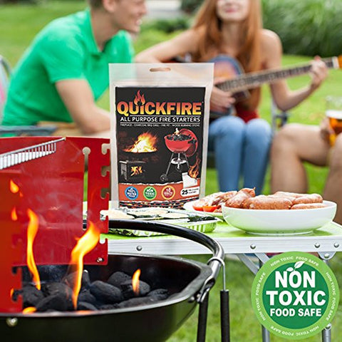 12 Pack Instant Fire Starters. Voted #1 Camping And Charcoal BBQ Fire Starter of 2016.