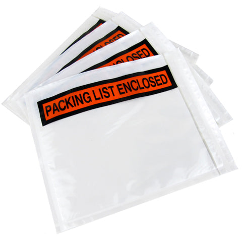"""Packing List Enclosed"" Envelopes 4"" x 5.5"""