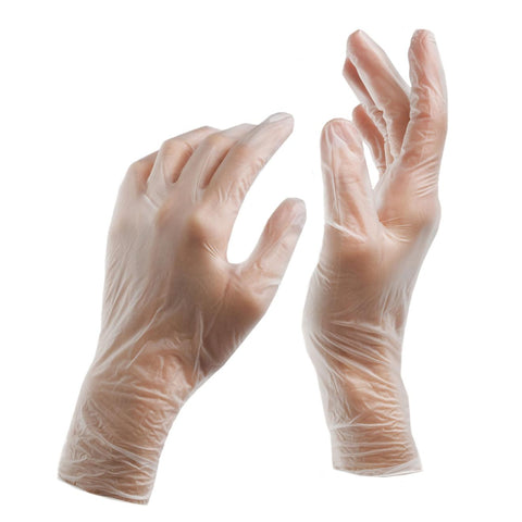 Vinyl Exam Gloves - Large (100/case)
