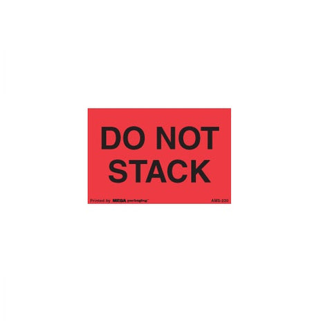 "DO NOT STACK Shipping Label 2"" x 3"""