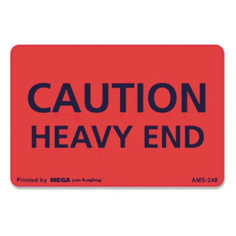 "CAUTION HEAVY END Label 2"" x 3"""