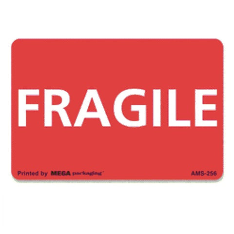 "FRAGILE Shipping Label 2"" x 3"""