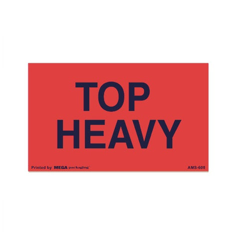 "TOP HEAVY Shipping Label 3"" x 5"""