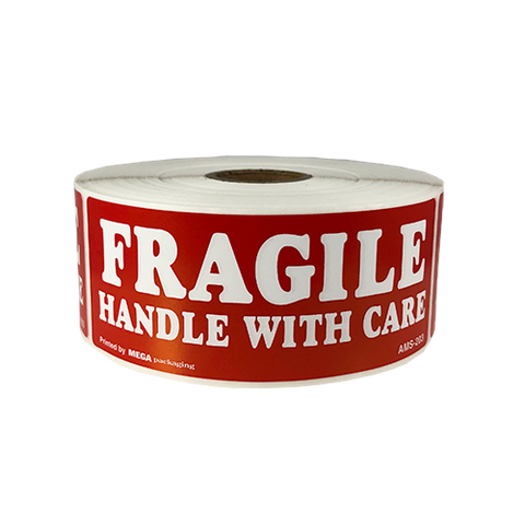 "Fragile Handle With Care Shipping Labels 1.5"" X 4"""