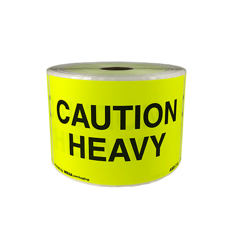 "Shipping Label CAUTION HEAVY 3"" x 5"""