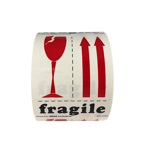 "3"" x 4"" Fragile Label"