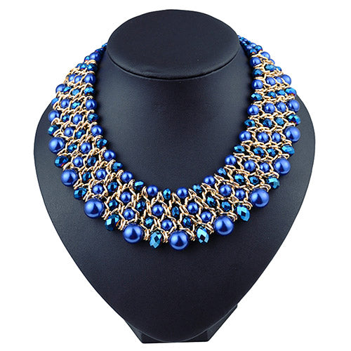 Crystal Beads Choker Necklace