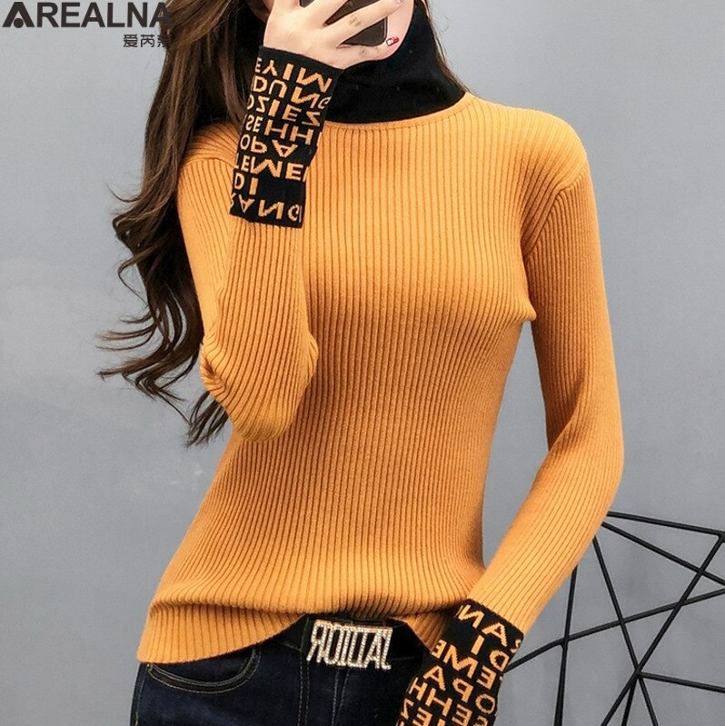 Long Sleeve Turtleneck Slim Sweaters