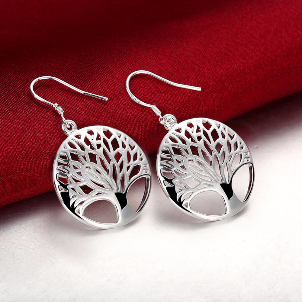 Tree of Life Totem Pendants Necklace Earrings Ring Silver 925 Sets