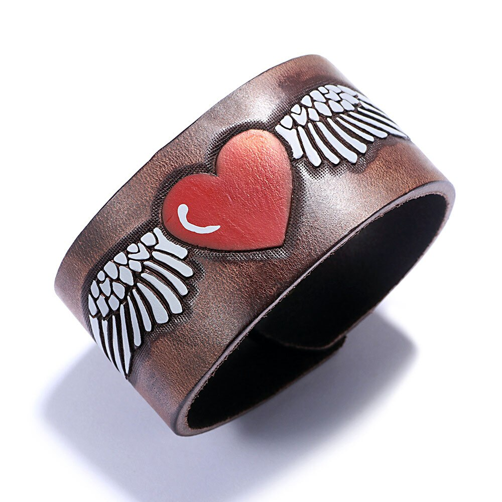 Wide Leather Bracelet for Women